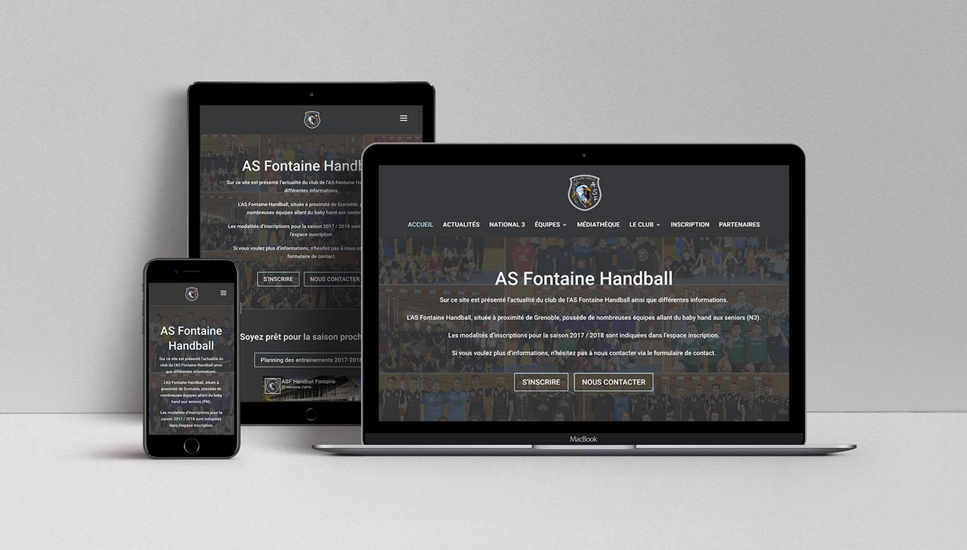 Visuel du site AS Fontaine sur différents formats (ordinateur, tablette, téléphone)